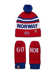 GOING FOR GOLD SET - NORWEGIAN FLAG RED