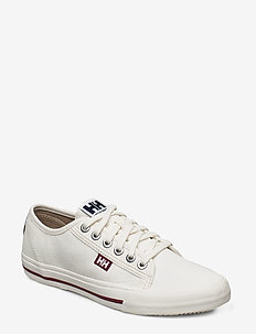 W FJORD CANVAS SHOE V2 - lave sneakers - off white / beet red / nav