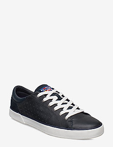 COPENHAGEN LEATHER SHOE - NAVY / OFF WHITE