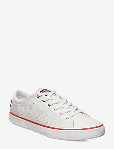 COPENHAGEN LEATHER SHOE - OFF WHITE / ALERT RED / LI