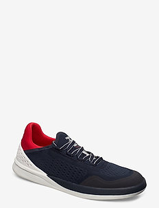STEMFORTH - low tops - navy / off white / red 162