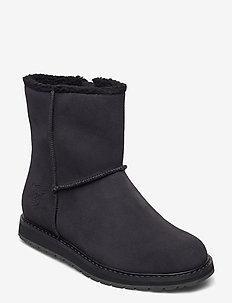 W ANNABELLE BOOT - platta ankelboots - black / black gum