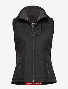 W CREW VEST - sports jackets - black
