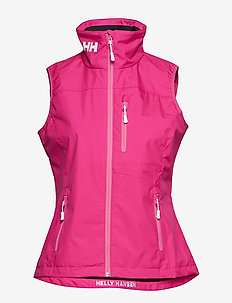 W CREW VEST - sportjackor - dragon fruit