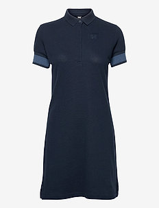 W THALIA PIQUE DRESS - t-shirt dresses - navy