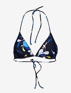 W NEW BIKINI TOP - bikini tops - sling navy print