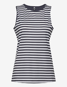 W THALIA SLEEVELESS T - treenitopit - white navy stripe