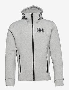 HP OCEAN FZ HOODIE - hættetrøjer - grey melange