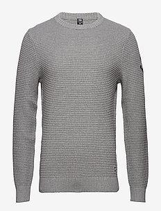 FJORD SWEATER - basic strik - grey melange