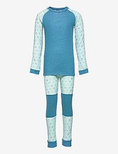 K HH LIFA MERINO SET - undertøjssæt - blue tint
