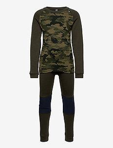 K HH LIFA MERINO SET - underklädesset - pine green