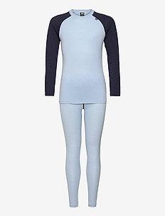 JR HH MERINO MID SET - ondergoedsets - ice blue