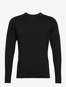 LIFA MERINO MIDWEIGHT CREW - bluzki termoaktywne - 990 black