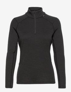 W LIFA MERINO MIDWEIGHT 1/2 ZI - bluzki termoaktywne - 990 black