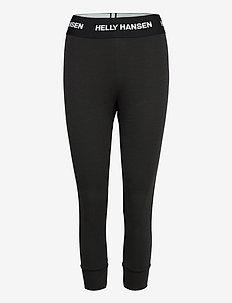 W LIFA MERINO MIDWEIGHT 3/4 PA - spodnie termoaktywne - 990 black