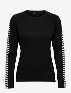 W LIFA ACTIVE STRIPE CREW - langarmshirts - 990 black