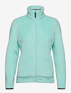 W FEATHER PILE JACKET - fleece midlayer - blue tint