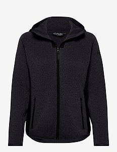 W VARDE HOODED FLEECE JACKET - mellomlag i fleece - slate