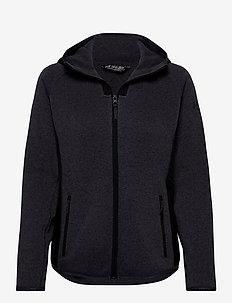 W VARDE HOODED FLEECE JACKET - mid layer jackets - slate