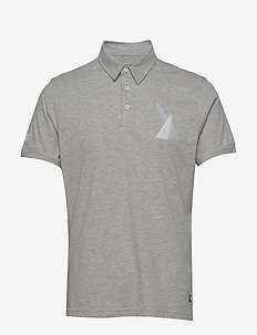 FJORD POLO - GREY MELANGE