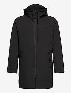 MONO MATERIAL RAIN PARKA - manteaux de pluie - black