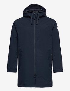 MONO MATERIAL RAIN PARKA - manteaux de pluie - navy