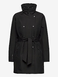 W WELSEY II TRENCH - parkas - black