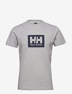 HH BOX T - t-shirts - grey melange