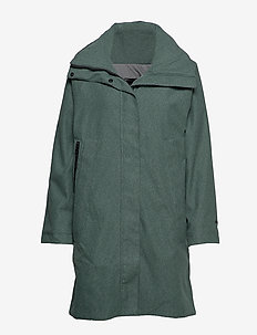 W BELOVED WOOL COAT - JADE MELANGE