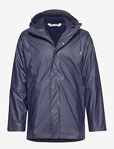 MOSS INSULATED RAIN COAT - NAVY