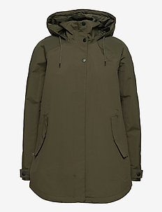 W VALENTIA RAINCOAT - outdoor & rain jackets - forest night