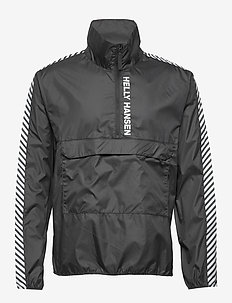 VECTOR PACKABLE WIND ANORAK - anoraks - black