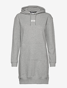 W ACTIVE HOODIE DRESS - sports dresses - grey melange