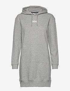 W ACTIVE HOODIE DRESS - sportskjoler - grey melang