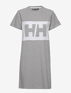 W ACTIVE T-SHIRT DRESS - urheilumekot - grey melange