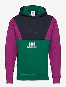 YU20 BLOCKED HOODIE - basic sweatshirts - alpine green