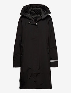 W VICTORIA INS RAIN COAT - insulated jackets - black