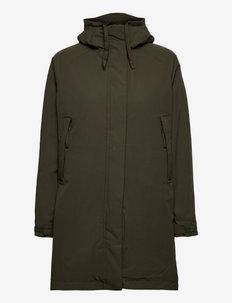 W MONO MATERIAL INS RAIN COAT - manteaux de pluie - 431 utility green