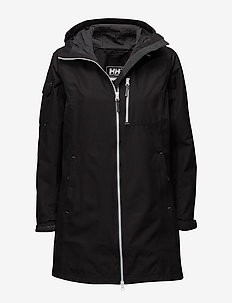 W LONG BELFAST JACKET - parka coats - black