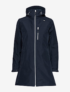 W LONG BELFAST JACKET - parka coats - navy