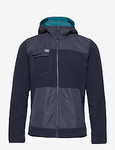 VERKET REVERSIBLE PILE - fleece midlayer - deep lagoon