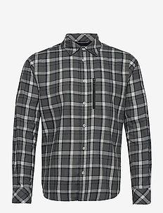 LOKKA LS SHIRT - casual skjortor - grey fog check