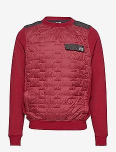 MOVATN WOOL INS SWEATER - basic-sweatshirts - oxblood
