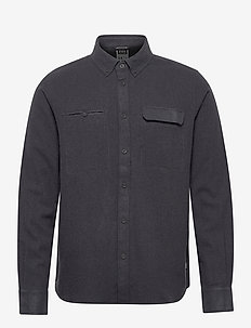WOOL LS SHIRT - EBONY