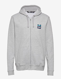 NORD GRAPHIC FZ HOODIE - basic sweatshirts - grey melange