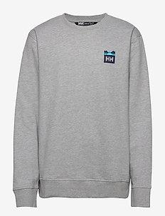 NORD GRAPHIC CREW SWEATSHIRT - basic sweatshirts - grey melange