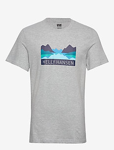 NORD GRAPHIC T-SHIRT - t-shirts - grey melange