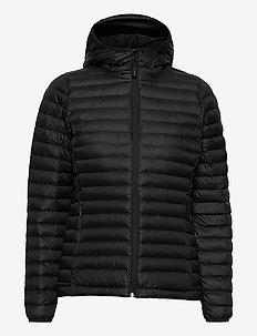 W SIRDAL HOODED INSU - outdoor & rain jackets - black