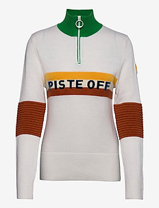 W TRICOLORE KNITTED SWEATER - neulepuserot - white