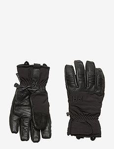 LEATHER MIX GLOVE - tilbehør - 990 black